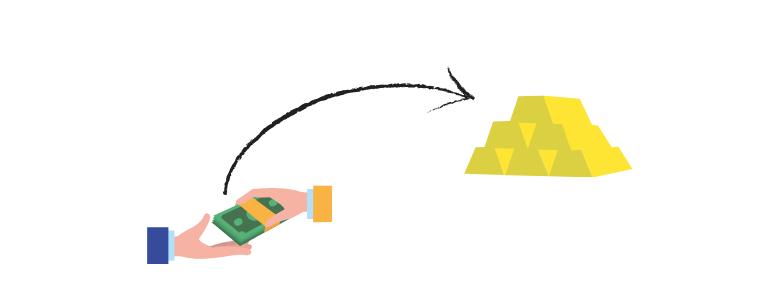 dolar e ouro